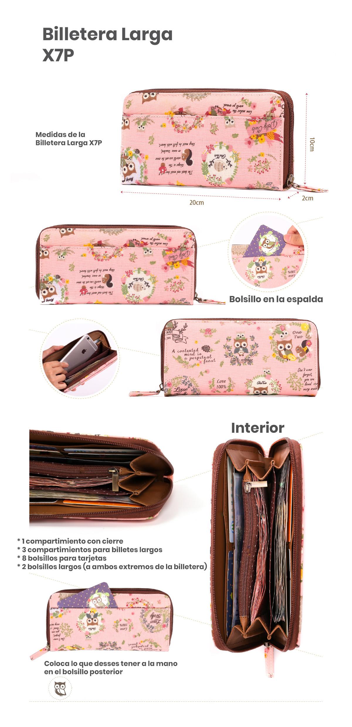 detalles billetera X7P