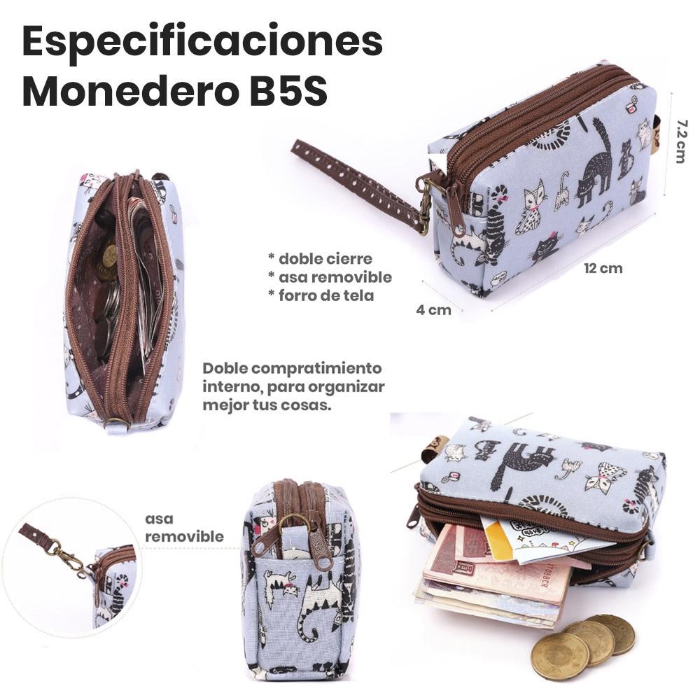 descripción monedero B5S