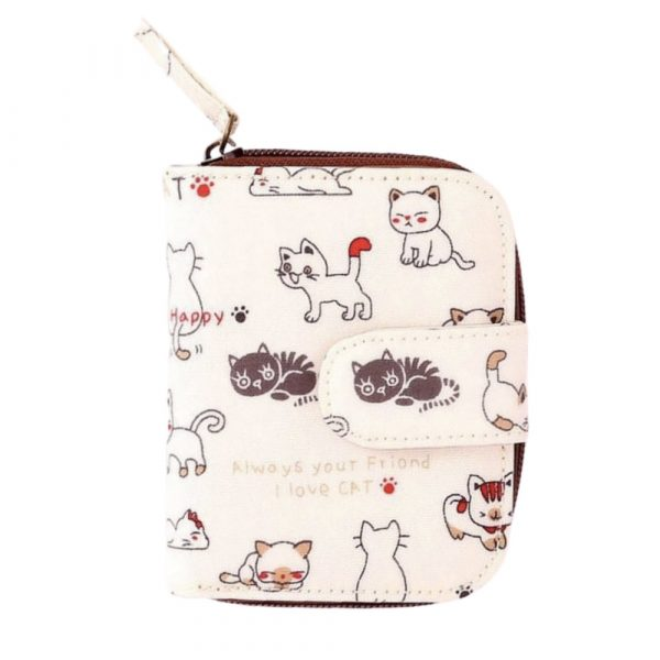 billetera X5P gato33 blanco