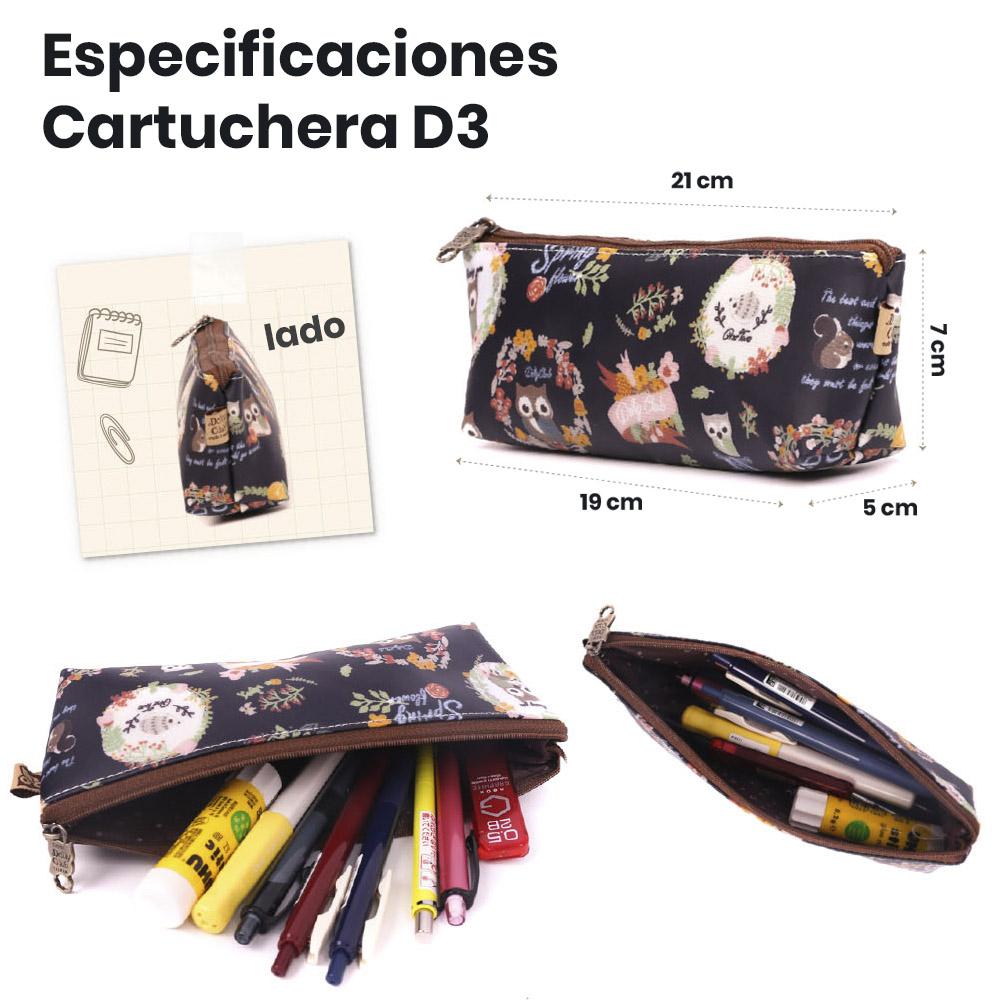 Especificaciones cartuchera D3