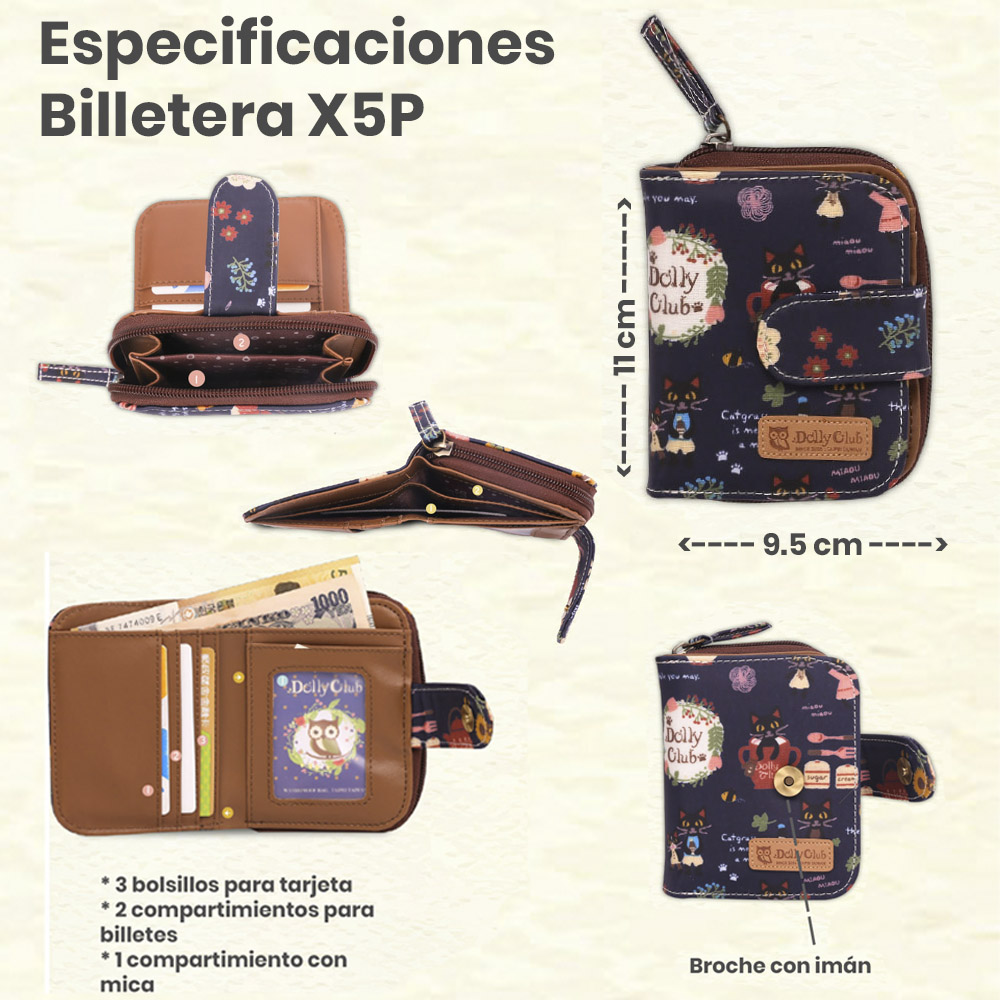 especificaciones billetera X5P